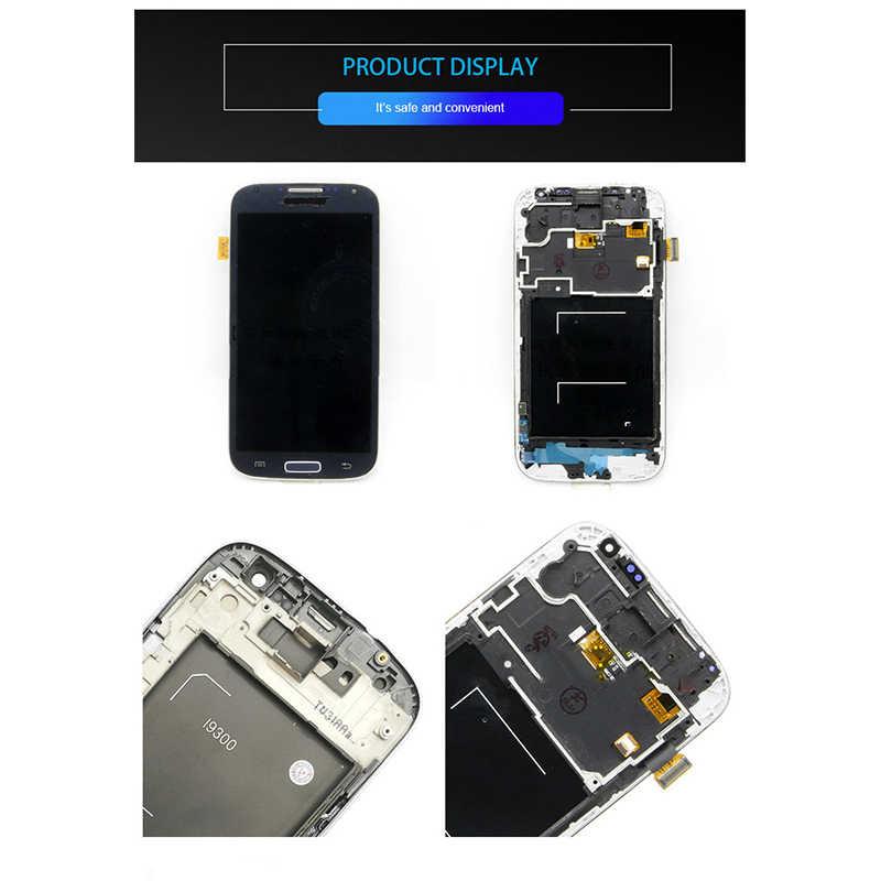 لسامسونج غالاكسي S4 I9505 شاشة الكريستال السائل شاشة تعمل باللمس محول الأرقام مع الجمعية الإطار استبدال 1280*720 جودة عالية