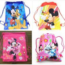 602e6ed447c Unids 1 unidad Minnie mickey moana trolls bolsa de tela no tejida mochila  de viaje para niños bolsa de Escuela Decoración mochil.