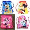 Unids 1 unidad Minnie mickey moana trolls bolsa de tela no tejida mochila de viaje para niños bolsa de Escuela Decoración mochila con cordón bolsa de regalo