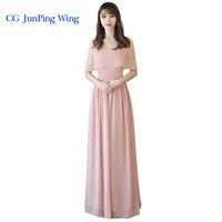 Chiffon Split Long Bridesmaid Dresses Custom Mix Style Cheap Wedding Prom Dress Party Dress Vestidos