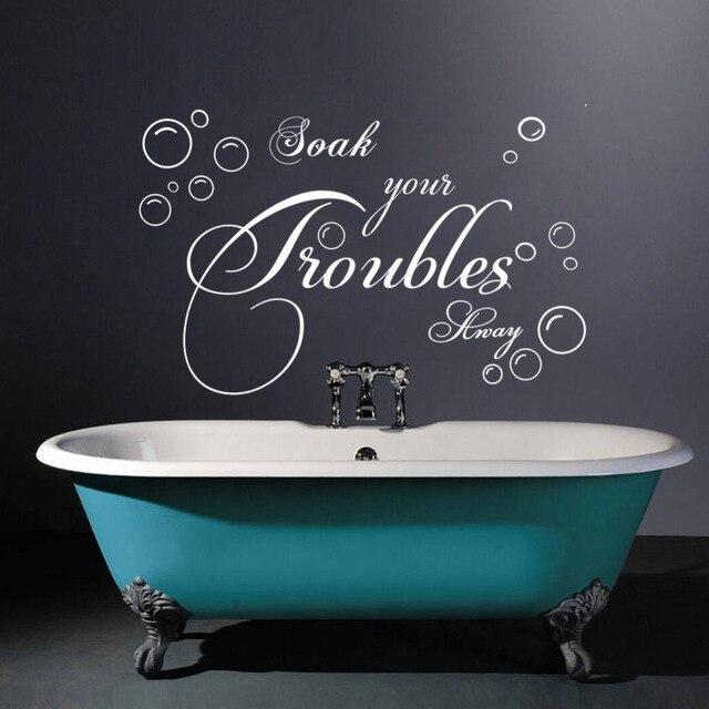 immergere i problemi di citazioni bagno arredamento camera da letto adesivi murali bolla adesivo smontabile del