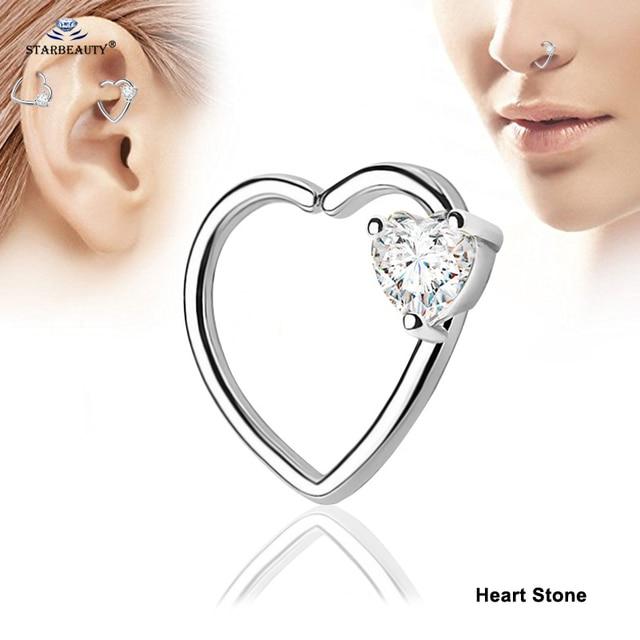 Купить starbeauty 2 шт/лот левое и правое ухо кольцо для пирсинга сердечко