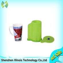3D Sublimation Silicone Mold Mug Clamp for 12OZ Cone Mugs Heat Transfer Print printer parts цены онлайн