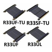 PCIE 3.0x16 đồ họa Video thẻ PCIe X16 khe cắm nối dài Góc Cạnh cho ITX Mainboard nhà ở khung xe mini ốp lưng nhựa PC Cáp