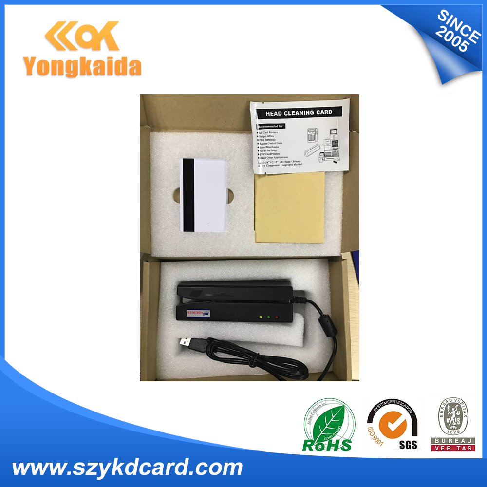 YongKaiDa High Reading Speed 3 Tracks USB MSR900 Magnetic Stripe Write Reader For Member Management System