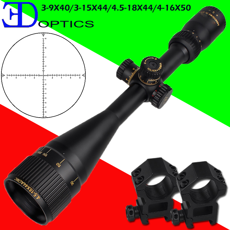 Hot New Brand Optical Sight 4-16X50 Riflescope Optics Rifle Sight Hunting Optics Red Dot Chasse Aim Hunter Gun Caza Accessory