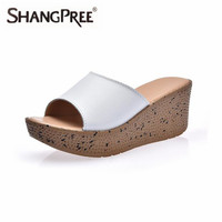 34-41 Size 2017 Women Slippers Summer Style Fashion Flip Flops Good Quality Casual Shoes Wedges Solid Slippers Sandalias Mujer