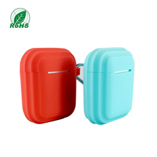 Bluetooth earphone case new patented design Rohs standard silicone protector shockproof cover for Apple AirPods 2 charge box