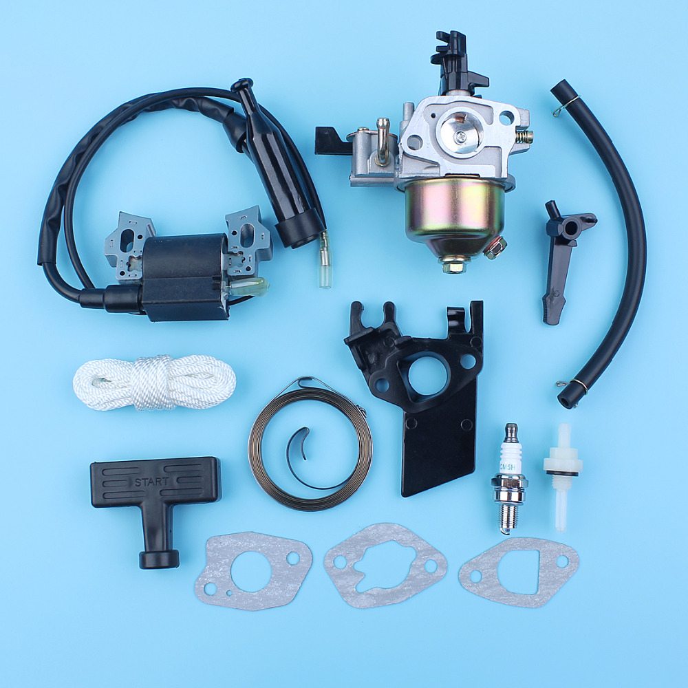 Carburetor Ignition Coil Choke Rod Starter Spring Grip Gasket Kit For Honda GX160 5 5HP GX200 6 5HP 168F 170F Engines Generator