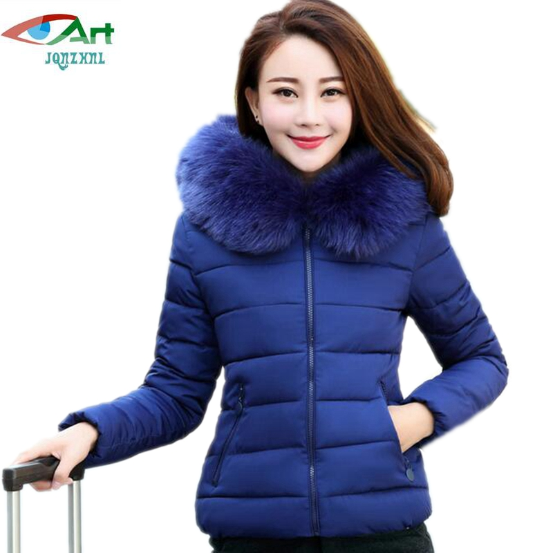 JQNZHNL 2017 New Women Warm Cotton Coats and Jackets Fashion Hooded Slim Down Cotton Coats Short Jackets for Mid-aged Women E329