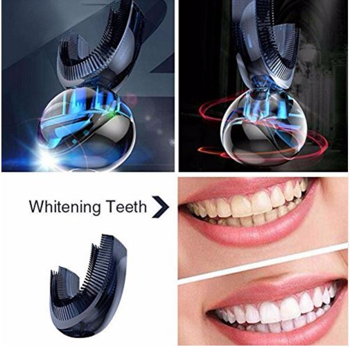 Amabrush Automatic Electric Toothbrush Wireless Charging Teeth Whitening in 15 Seconds Support Drop shipping 2pcs philips sonicare replacement e series electric toothbrush head with cap