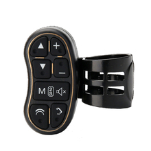 Volante del coche universal de control remoto botón portátil coche navigationDVD Bluetooth controlador de volumen de audio Bluetooth contr