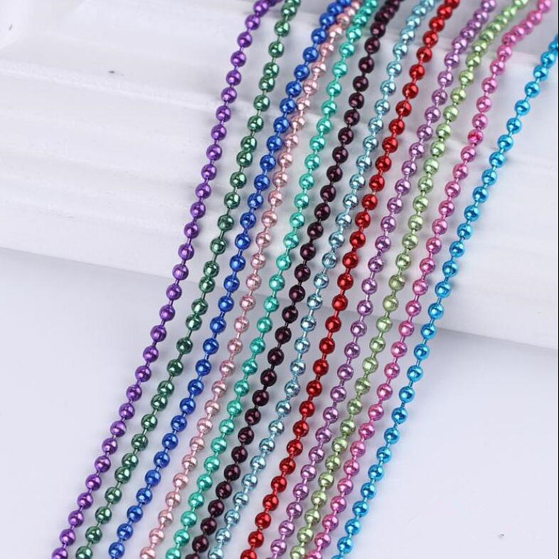 купить 5M/lot 1.5/2/2.4mm Metal Ball Bead Chains Bulk Bronze/Silver/Gold Color Link Chains for Diy Necklaces Bracelets Jewelry Making по цене 129.2 рублей