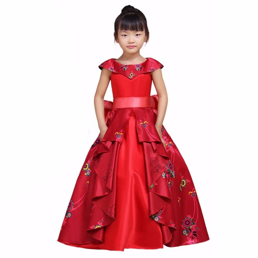 MUABABY Girl Summer Dress Elena of Avalor Princess Costume Children ...