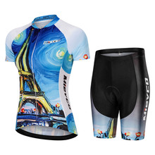 Cycling Sets Women Short Sleeve Road Bike Clothing Pro France Team Bicycle  Uniform Roupa De Ciclismo e653e35c5