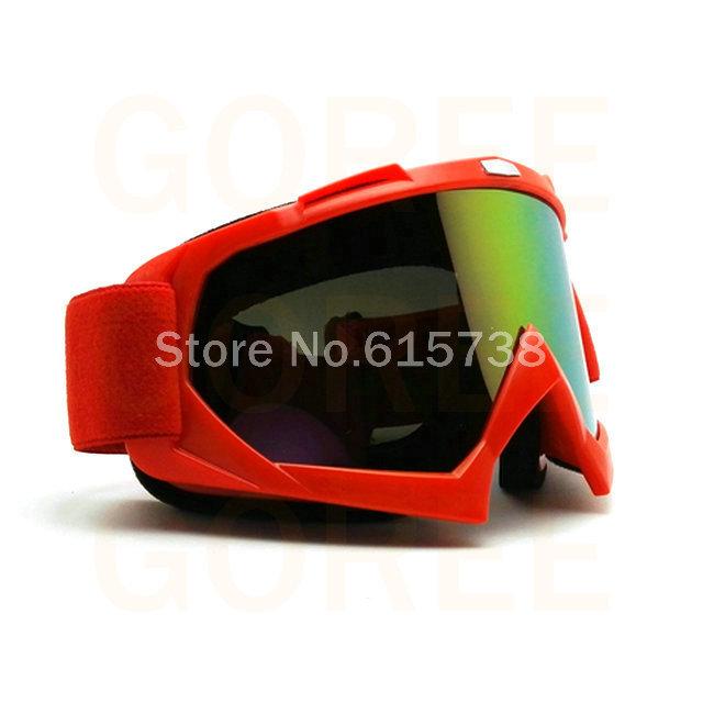 VERMELHO Óculos De Proteção Da Motocicleta MX Motocross Moto Cross Country Flexível Goggles Tinted UV Googles
