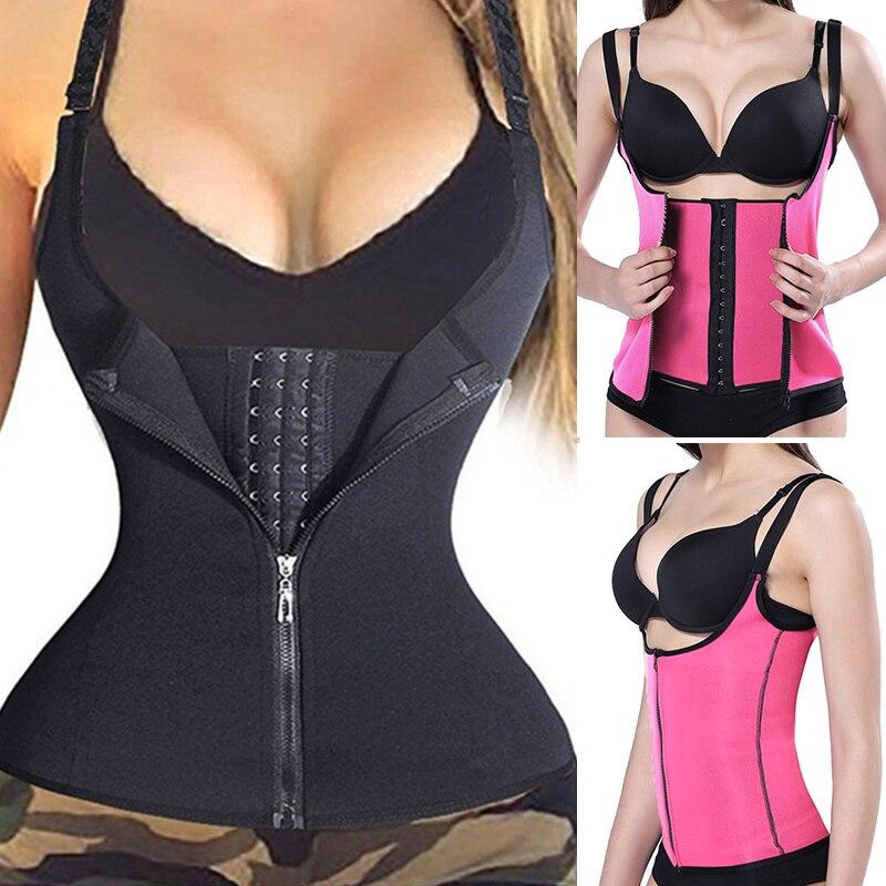 1PC Women Waist Trainer Body Shaper Zipper Underbust Workout Waist Corset Tummy Cincher Control Vest Corsets and Bustiers XS-4XL