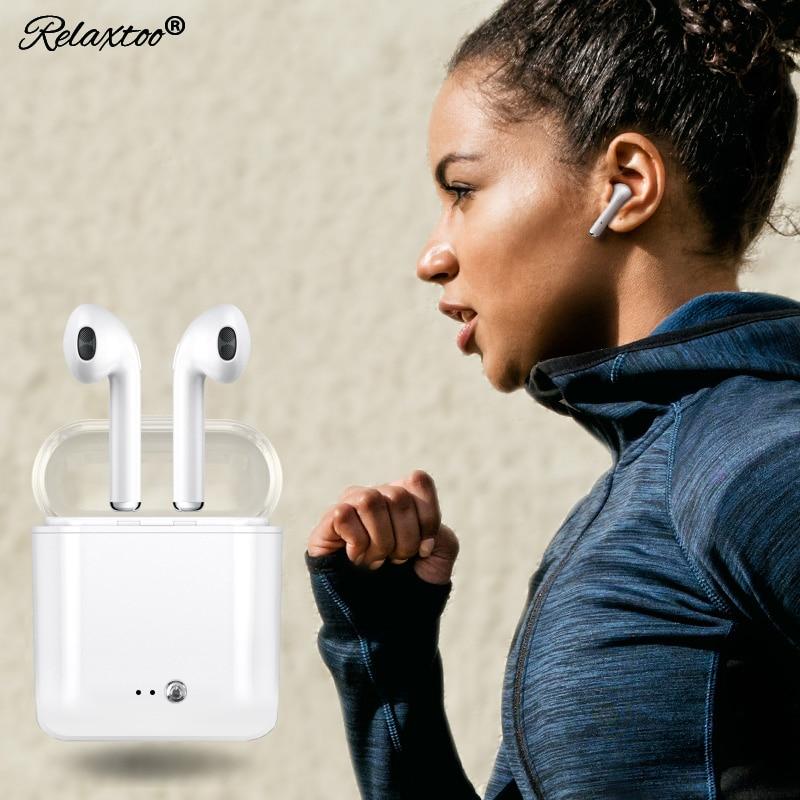 i7 tws mini Twins headphone +Charging box Bluetooth Earphone Wireless Headset Stereo sport Headphone in Ear Buds for apple Sony