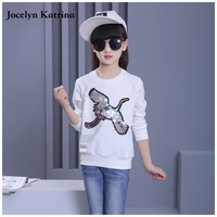 Spring Fall Baby Girls T Shirts Pink Cartoon Images Children S Clothes Cotton Long Sleeve Kids