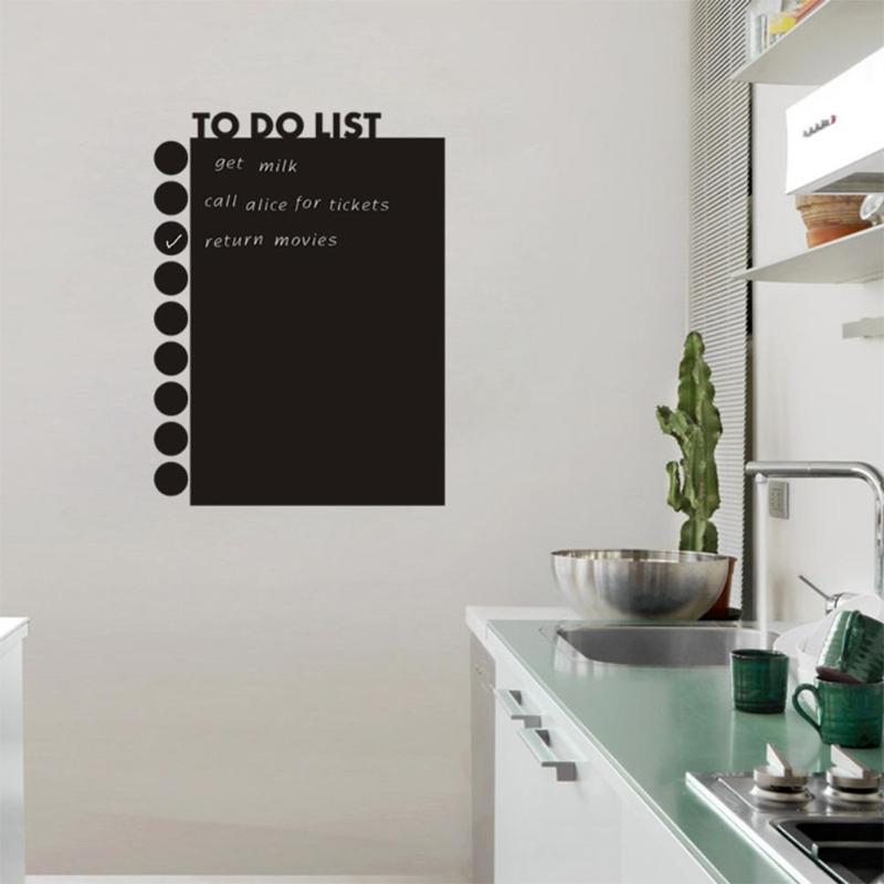 TO DO LIST Chalk Board Blackboard Sticker Waterproof Removable Kids Writing Board Art Home Supplies Decor Accessories 58x43 Cm