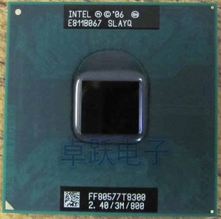 Original para intel CPU laptop Core 2 Duo T8300 CPU 3M Cache/2,4 GHz/800/Dual-Core Socket 479, procesador de ordenador portátil para GM45 PM45