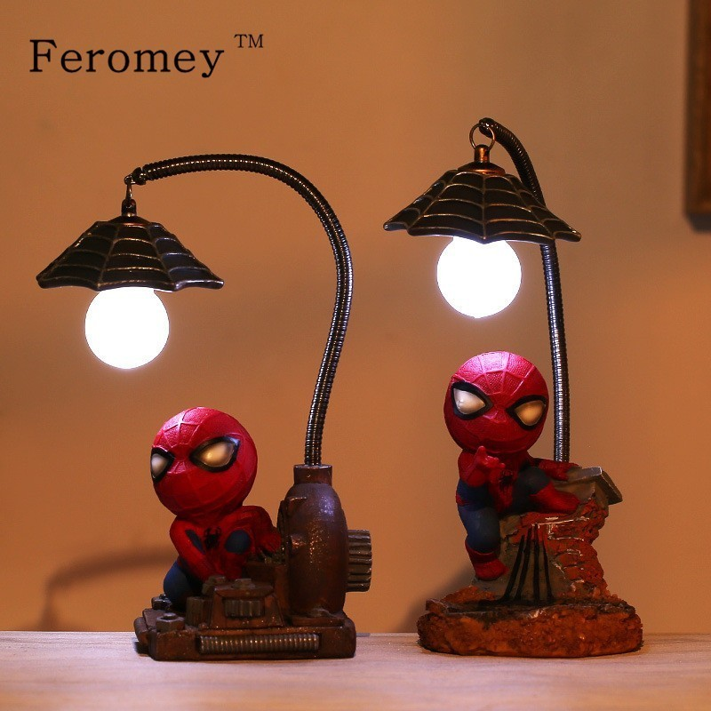 Spiderman Figure Dolls LED Night Light Toy Super Hero Spiderman Night Light Children Toys Home Decoration Birthday Gift