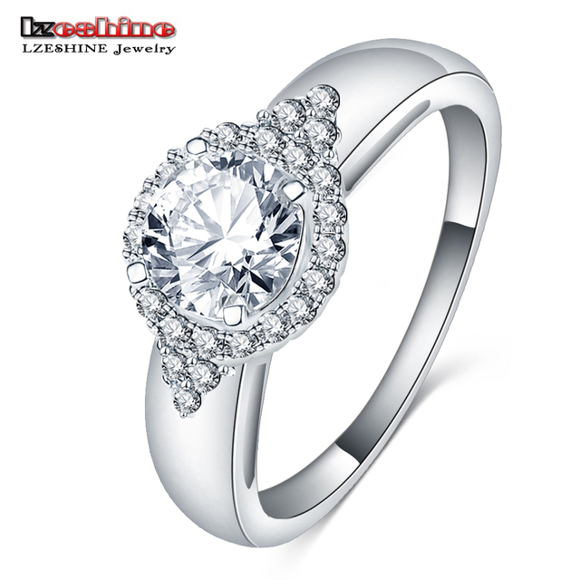 Lzeshine Meaningful Round Aaa Zirconia Wedding Ring Fine Austrian
