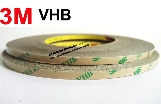 US $24 99 |1pcs, 0 25mm thick (8mm*33M) 3M Super VHB Double Glue Transfer  Tape for Metal Glass, High Temperature Resist, Instead Rivets-in Office