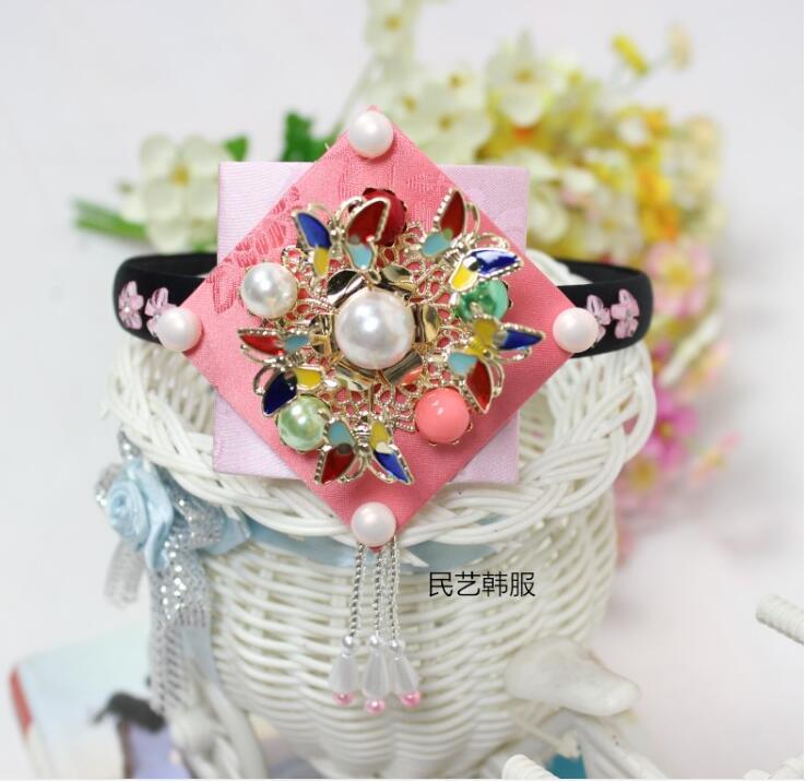 High Quality Korean Clothing Headdress Minority Wedding Costumes Hair 4 Color