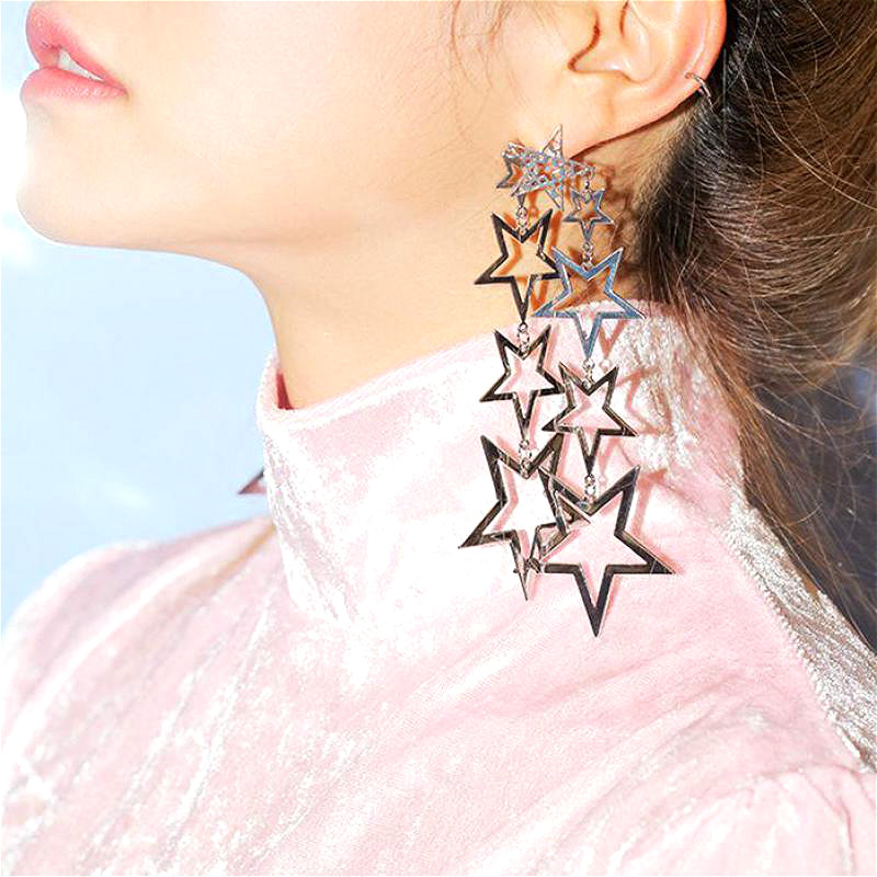 Statement Stars Long Earrings For Women Fashion Party Smykker Bijoux Big Earrings Gift