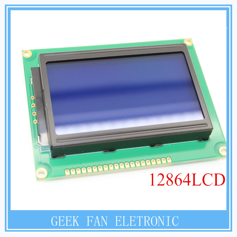 12864LCD 128x64 Dots Graphic Blue Color Backlight LCD Display Module Controller For Arduino Raspberry Pi A309