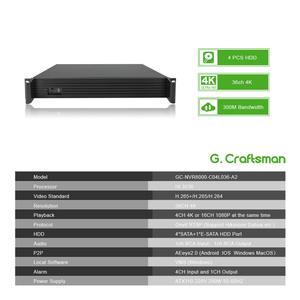 Image 3 - 36CH 4K 5MP 3MP H.265 Support 4 HDD Professional NVR 2U Network Video Recorder Recording IP Camera Security System G.Ccraftsman