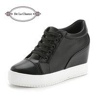 Black White Platform Women Shoes 2017 Spring Autumn Korean Hidden Heel Fashion Wedge Casual Shoes Flats