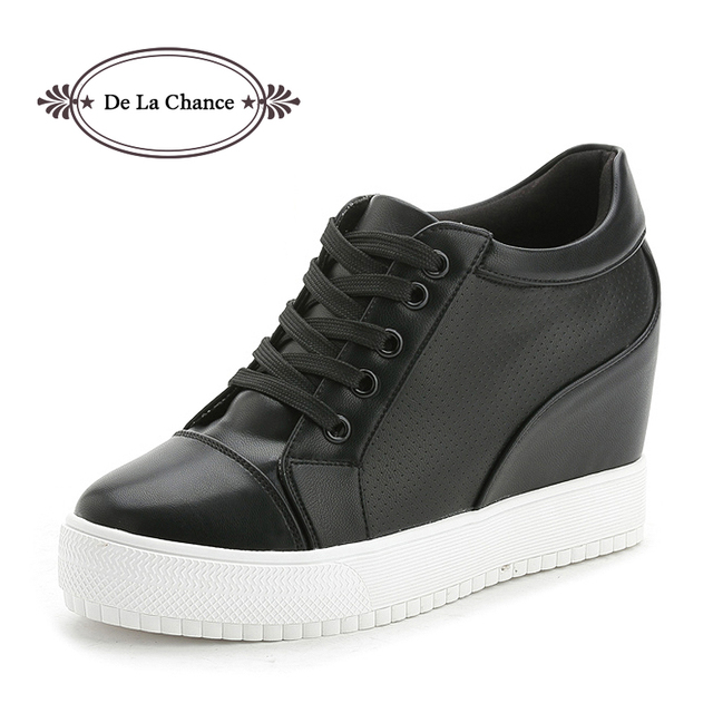 974196fd45b Black White Platform Women Shoes 2017 Spring Autumn Korean Hidden Heel  Fashion Wedge Sneakers Casual Shoes Woman Chaussure Femme