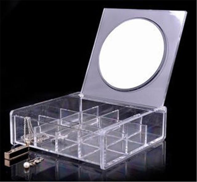 5.7 pulgadas, Tri-fold LED Iluminado Espejo de Maquillaje de Visión Amplio Portátil de Viaje de Bolsillo Compacto Espejo Led P25