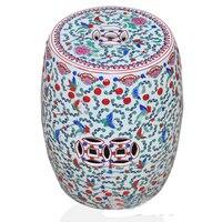 Античный Famille роза Фарфор Бабочка Дизайн китайский керамический стула