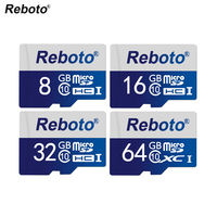 Reboto Memory Card UHS 1 8GB Class 10 Micro SD Card 64GB 32GB 16GB Class 10
