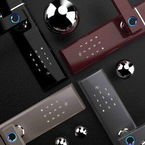 Image 3 - Akıllı parmak izi kapı kilidi güvenlik akıllı kilit biyometrik elektronik Wifi kapı kilidi Bluetooth uygulaması ile kilidini