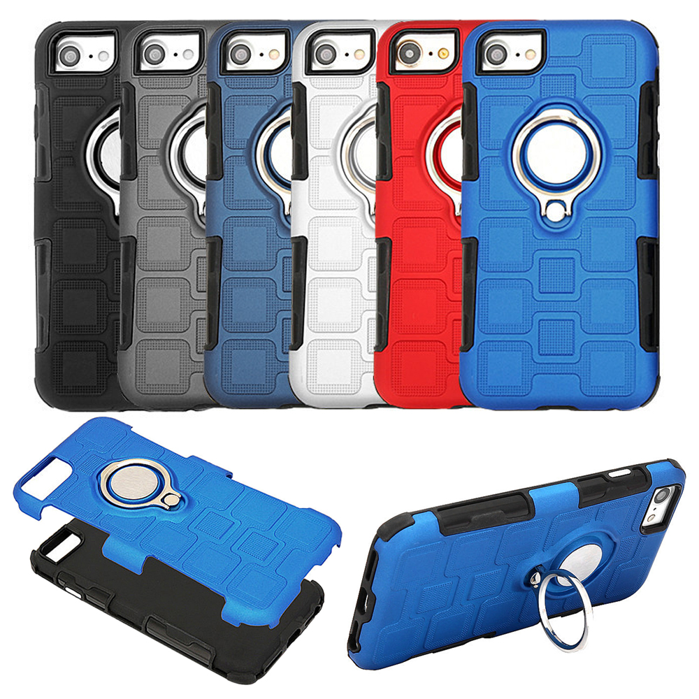 2 In 1 Shockproof Armor Coque Lg G5 Case Pc Tpu Hybrid 2in1 Shark Hard Soft Huawei P9 Ring Holder Stand For Iphone 6 6s 7 8 Silicone Back