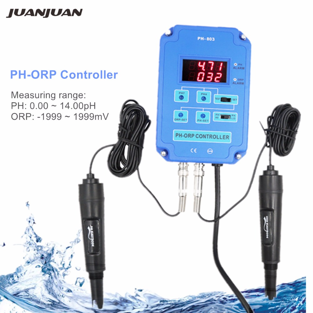 Digital 2 in 1 PH ORP Redox Controller Monitor Water Quality Monitor Tester BNC Type Probe