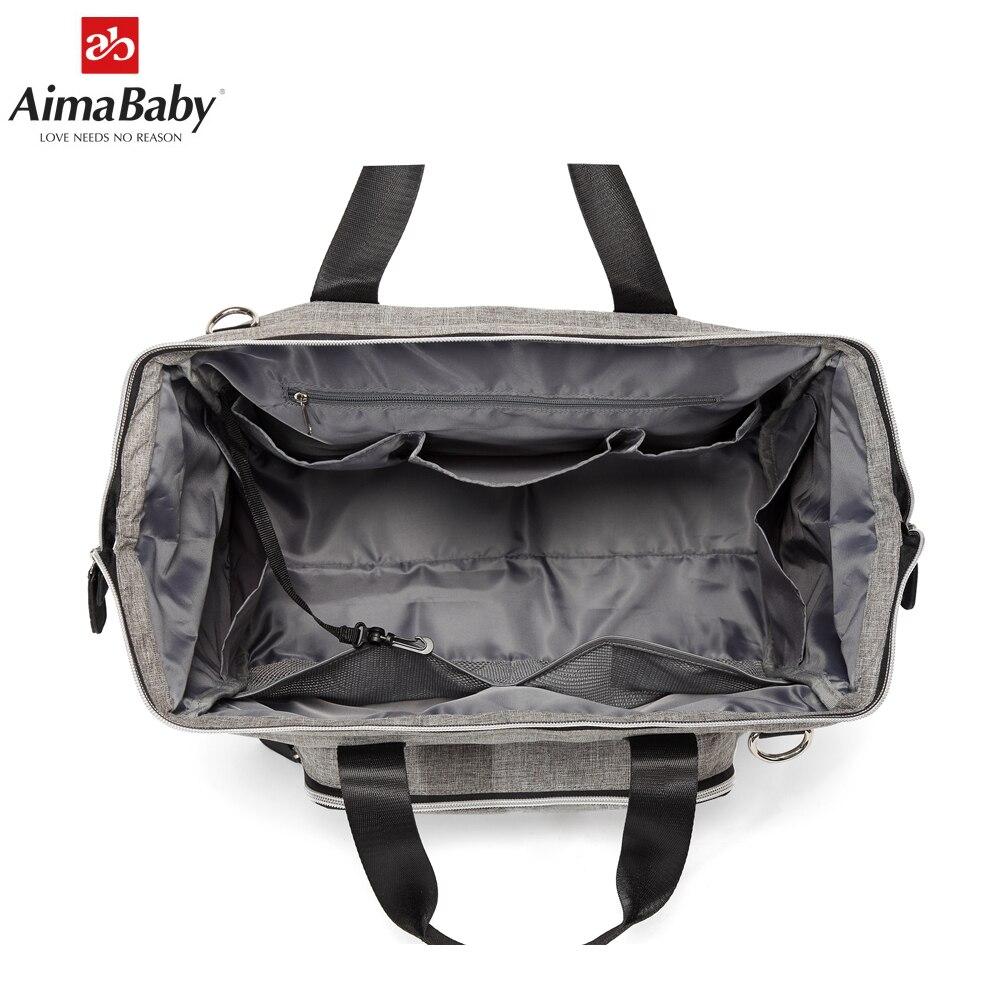 Aimababy grand sac à langer organisateur marque Nappy sacs bébé voyage maternité sacs pour mère bébé poussette sac à main couche - 6