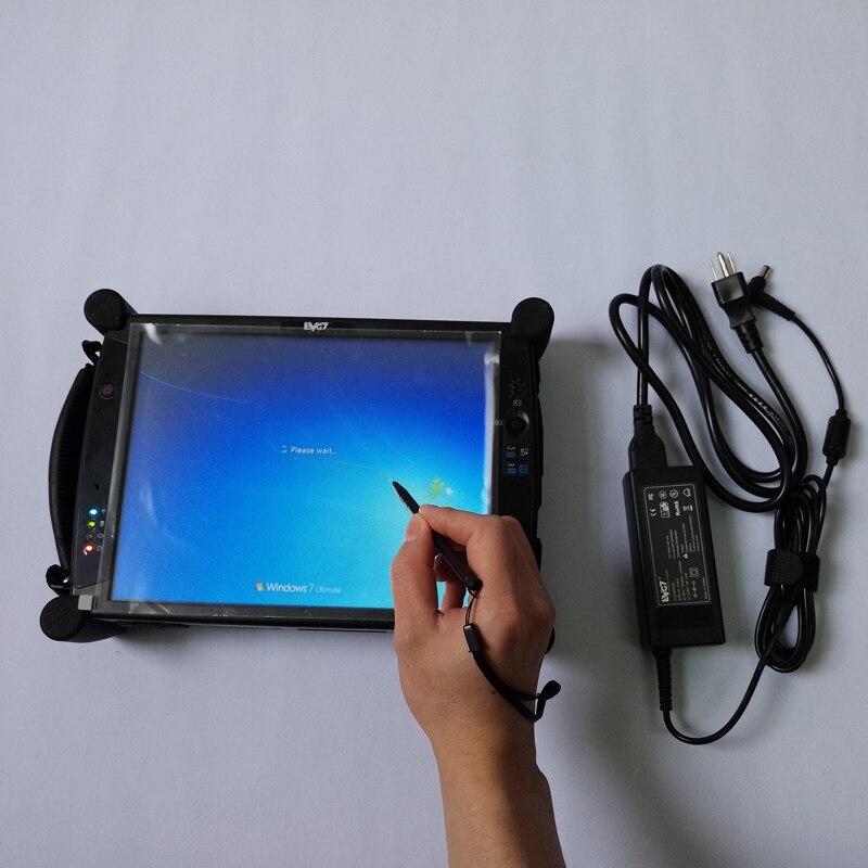 Para bmw icom a2 com software instalado bem EVG7 DL46 Tablet PC 4 gb ram laptop de diagnóstico do carro 500 gb HDD super modo expert ista