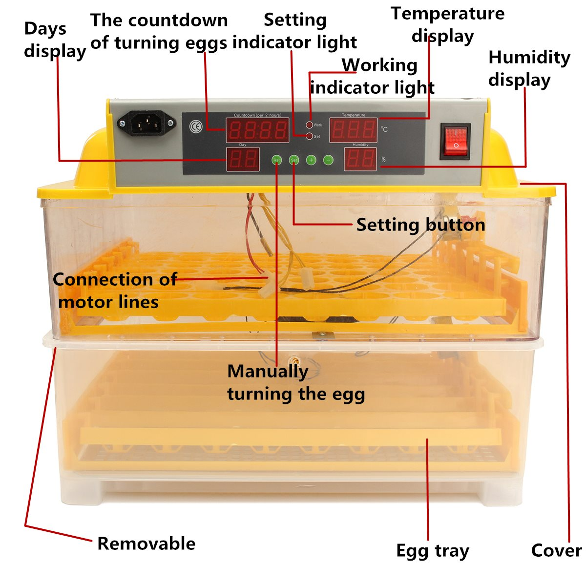 plastic 112 digital chicken eggs incubator temperature control rh aliexpress com egg incubator electrical diagram egg incubator circuit diagram