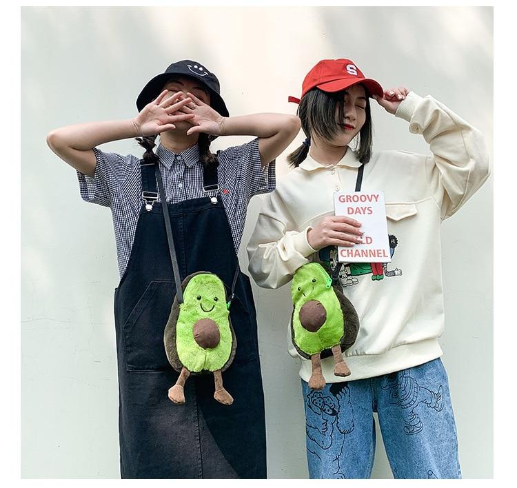 Women Avocado Bags Purse Shoulder Handbag Messenger Satchel Bag Cross Body Cute Holiday Cartoon Bag