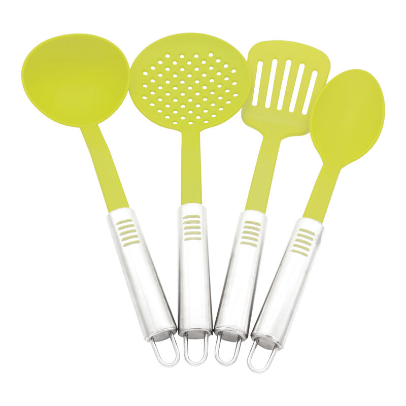 4 pieces nylon cooking tools stainless steel handle for Kitchen cooking sets