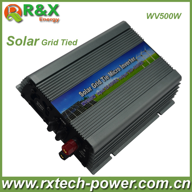 500w micro inverter, pure sine wave, on grid, DC AC, 22-60VDC, Free shipping!