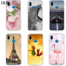 Phone Cover For Huawei P20 P 20 Lite Pro Plus Nova 3e 20lite Silicone Soft Back Case Cartoon Cute Painting Flower Tower Cases(China)