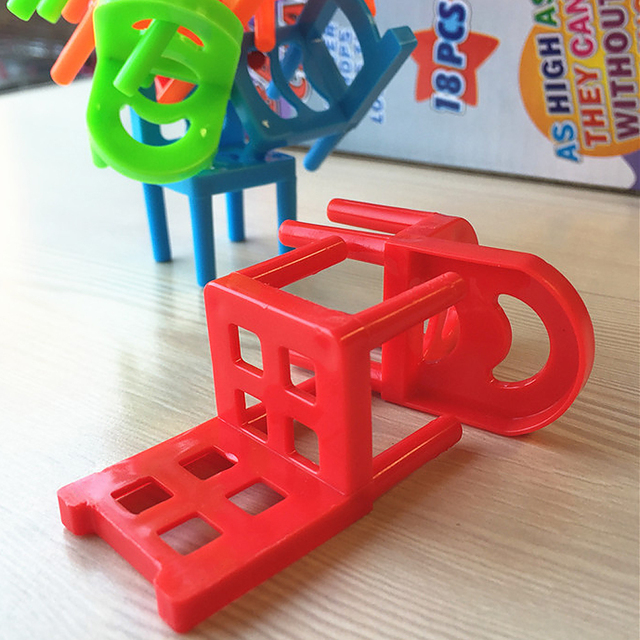 18Pcs/Set Balance Chairs Board Game ChildrenPuzzle Board Game Children Funny Colorful Game toys Kids Educational Balance Toys
