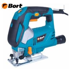 Лобзик электрический Bort BPS-650-Q (Мощность 620 Вт, быстрая замена пилки, маятниковая функция, регулировка скорости, глубина пропила дерева до 65 мм)