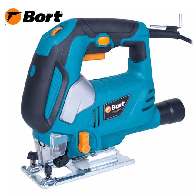 Лобзик электрический Bort BPS-650-Q (Мощность 620 Вт, быстрая замена пилки, маятниковая функция, регулировка скорости, глубина